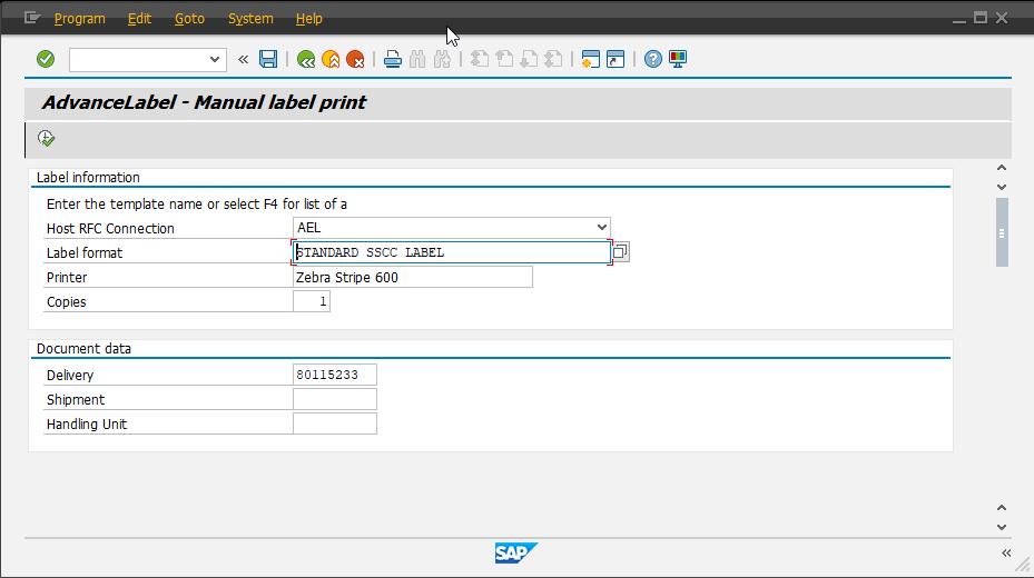 Print a manual label in SAP using AdvanceLabel | Advanced Solutions