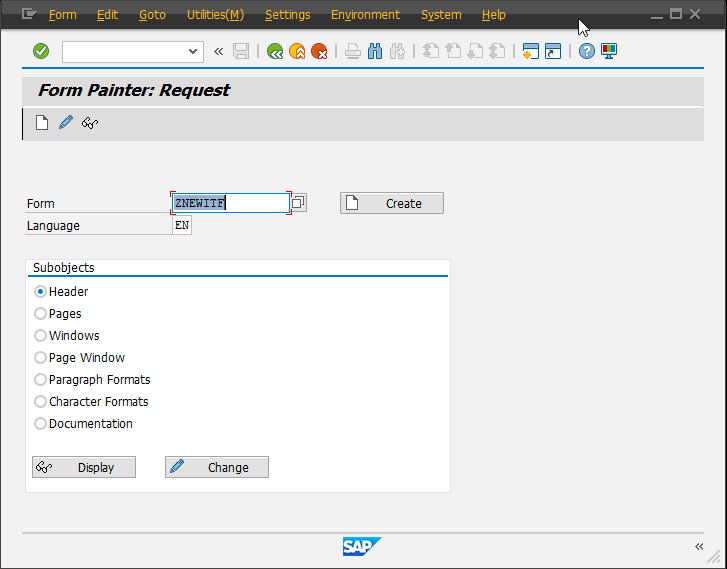 Create an SAPscript form from an ITF file | Advanced Solutions