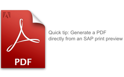 Generate a PDF directly from an SAP print preview